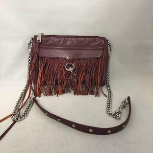 Rebecca Minkoff purple fringe chain sml crossbody